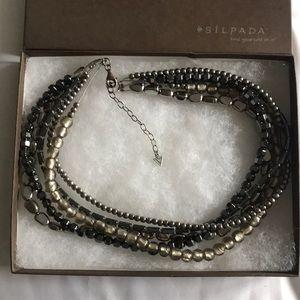 Silpada Hermatite Hailstone Necklace N1936